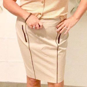 Ann Taylor Plus Pencil Skirt with Zipper Pockets